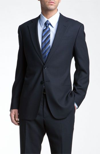 Armani Collezioni Trim Fit Wool Suit available at #Nordstrom