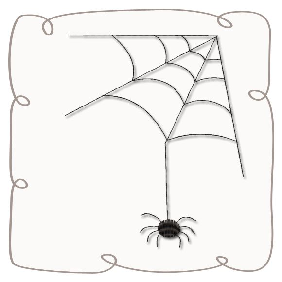 Spider and Web Machine Embroidery Design Pattern-INSTANT DOWNLOAD