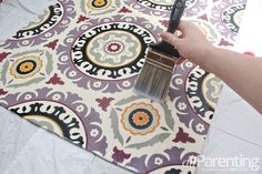 Make a fabric rug out of any fabric you like - cute project