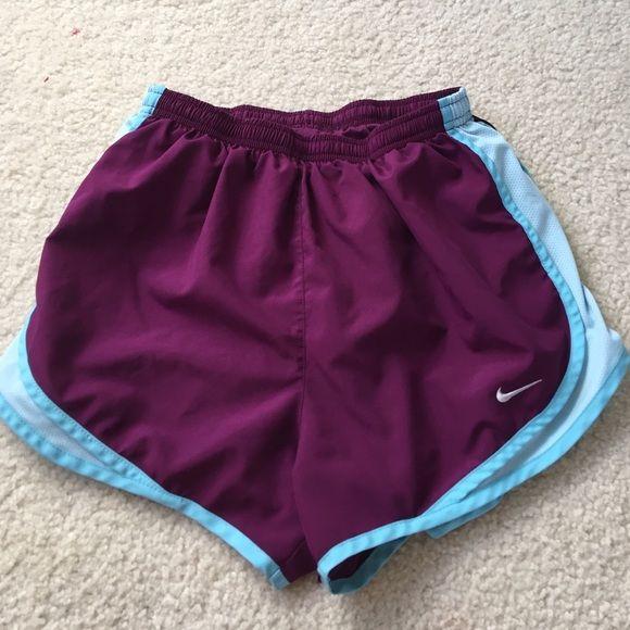 Nike tempo shorts! Baby blue  plum Nike tempo shorts. Worn but still like new! Nike Shorts