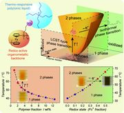 Switching Light Transmittance by Responsive Organometallic Poly(ionic liquid)s: Control by Cross Talk of Thermal and Redox Stimuli