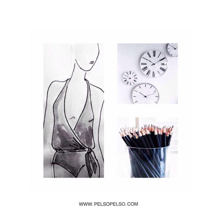 Creative process @pelsoswimwear #drawing #bikini #swimsuit