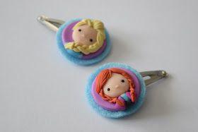 Ms. Eni: Anna und Elsa aus Fimo, polymer clay