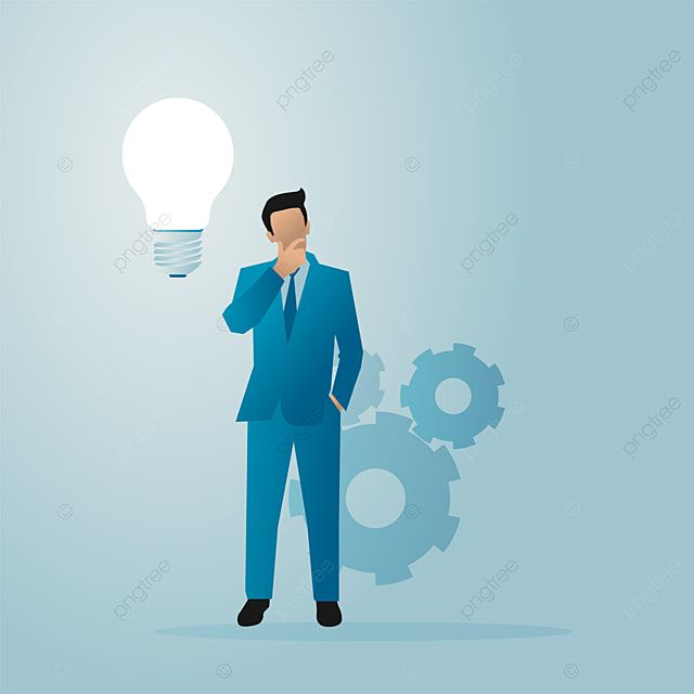 Business Vector Illustrator Of Abusinessman Thinking And Stand Between Gears And Lights Bulbs Bulb Business Businessman Png And Vector With Transparent Backg Illustration Paint Background Medical Illustration