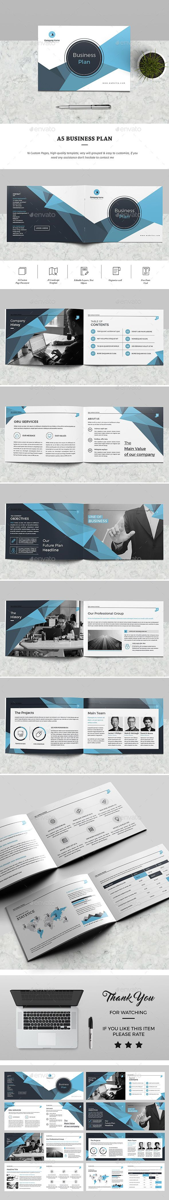 A5 Business Brochure Template InDesign INDD