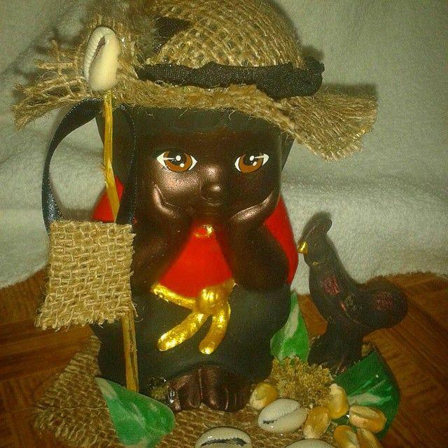 Pieza especial para #elegua Iyalorde #mascaras #Oya #OSHUN #Religion #yoruba #osha #YEMAYA #Obatala  - laoshaylosorishas