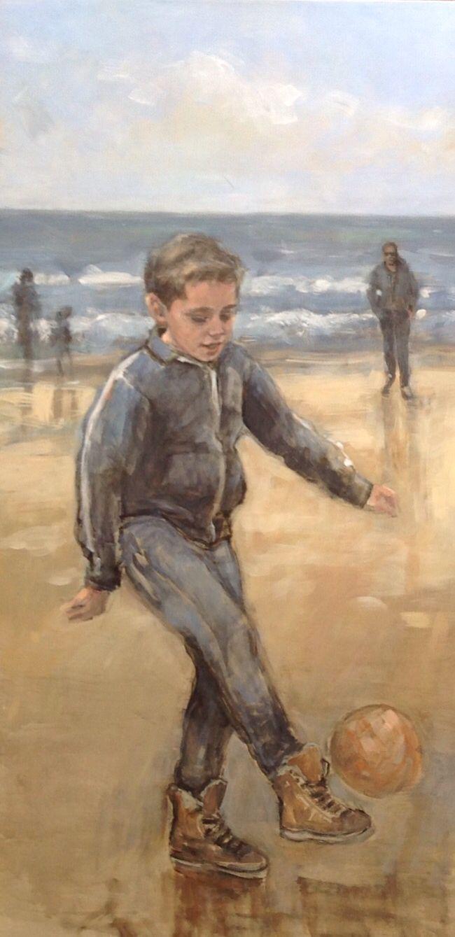 Strandtafereel door Alide