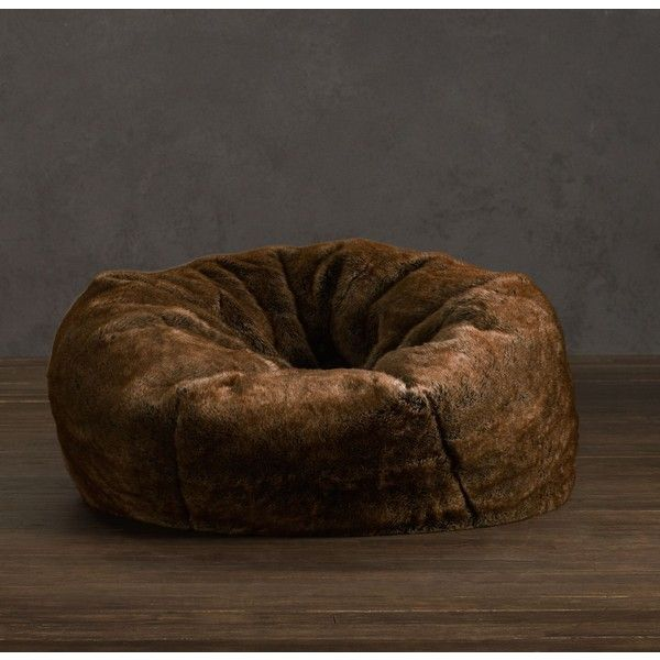 Luxe Faux Fur Bean Bag   Coyote ($249) ❤ Liked On Polyvore Featuring Home