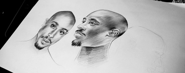 Tupac Shakur  2Pac Hip Hop RAP  María José Artgumedo, art Illustration https://www.facebook.com/mariajoseartgumedo