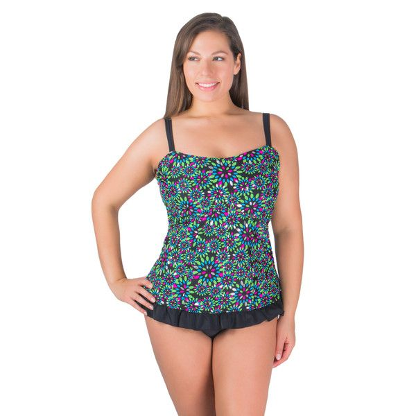 plus size swimwear for women House of Swim's latest designs in plus size swimwear are chic, flattering, and trendy with a wide selection of styles available to suit your individual taste. Whether you prefer the classic sophistication of a black one-piece swimsuit, swim dress, skirtini, tankini or enjoy a two-piece with a fun pattern, House of.