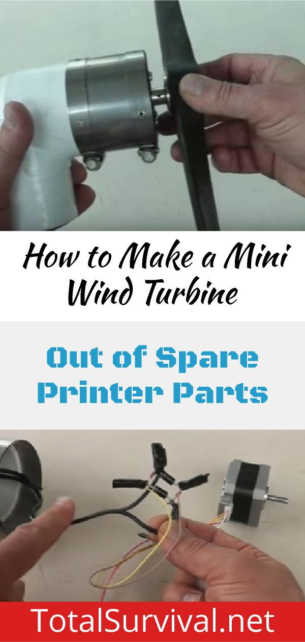 Learn how to make a mini wind turbine out of spare printer