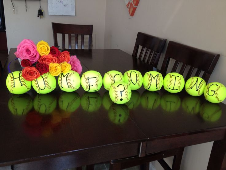 Cute way to ask a girl to homecoming if she plays softball...
