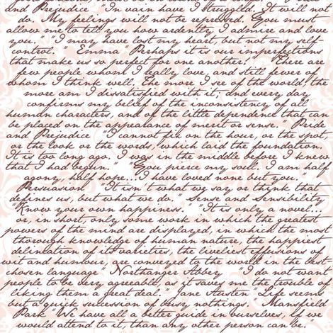 Jane Austen //  Spoonflower