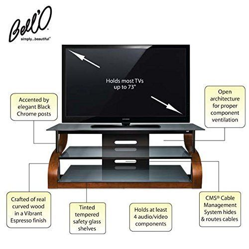 Bello 65 In Curved Tv Stand Vibrant Espresso Curved Tvs