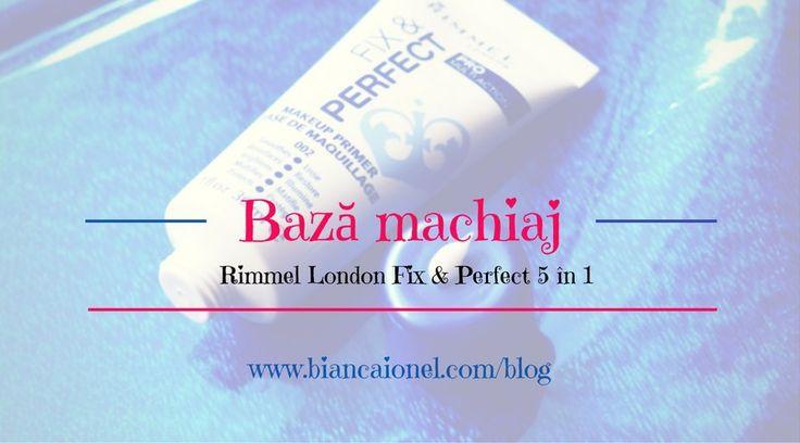 Baza pentru machiaj Rimmel Fix & Perfect