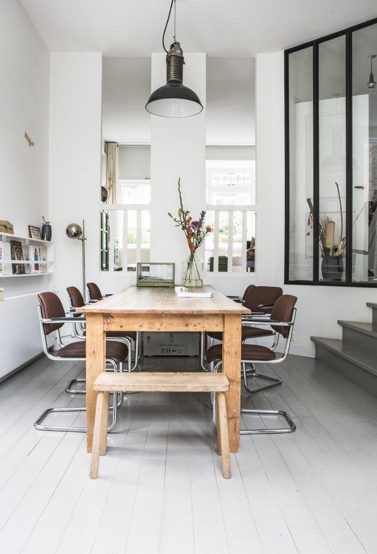 Wooden dining table with chairs   Photography Henny van Belkom   Text Karen Kroonstuiver   vtwonen May 2015