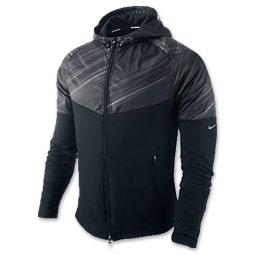 The Nike Fanatic Men's Running Jacket is designed to protect you without getting in your way. You may not even remember it's there! Designed to mimic your natural movement, the Dri-FIT fabric helps wick away sweat so you stay dry and comfortable. The men's hoodie is great for rainy and windy conditions. Side zip pockets help keep smaller items secure and out of the way. Reflective details increase your visibility when light is low.
