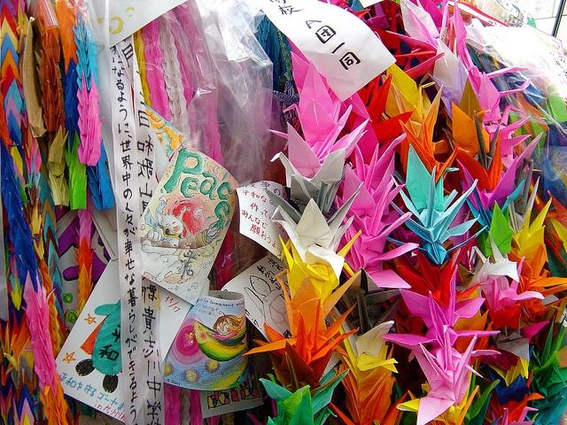 Origami Cranes at Peace Memorial