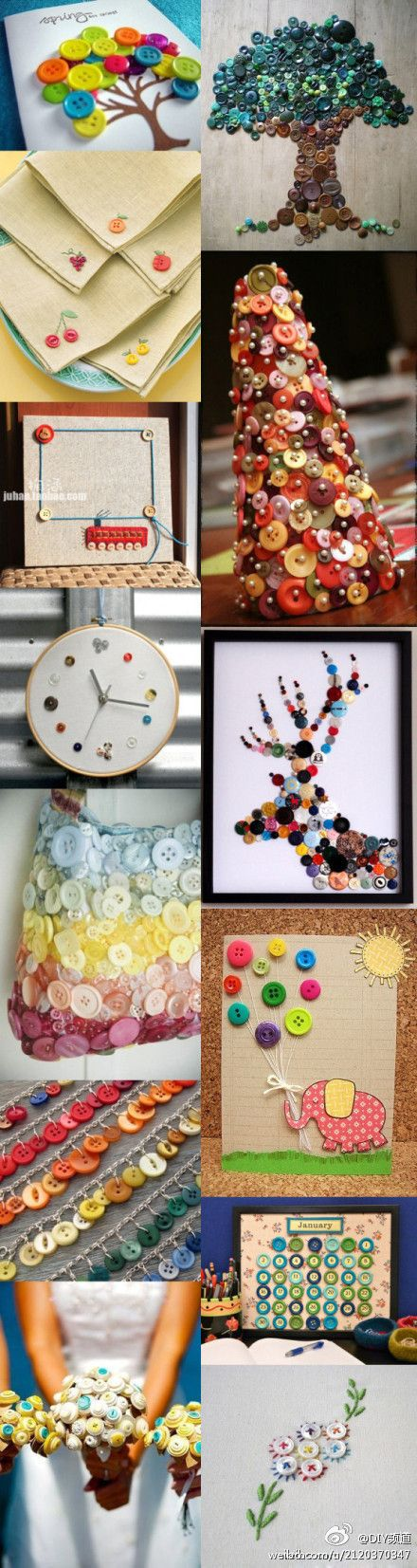 This is a great grouping of button crafts. Some I already have some I have never seen before.