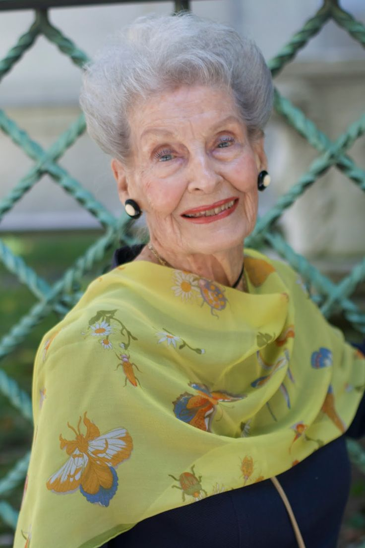 I would be happy to look this good in my 80's, but this lovely lady is 100.  Read about her on advancedstyle.com