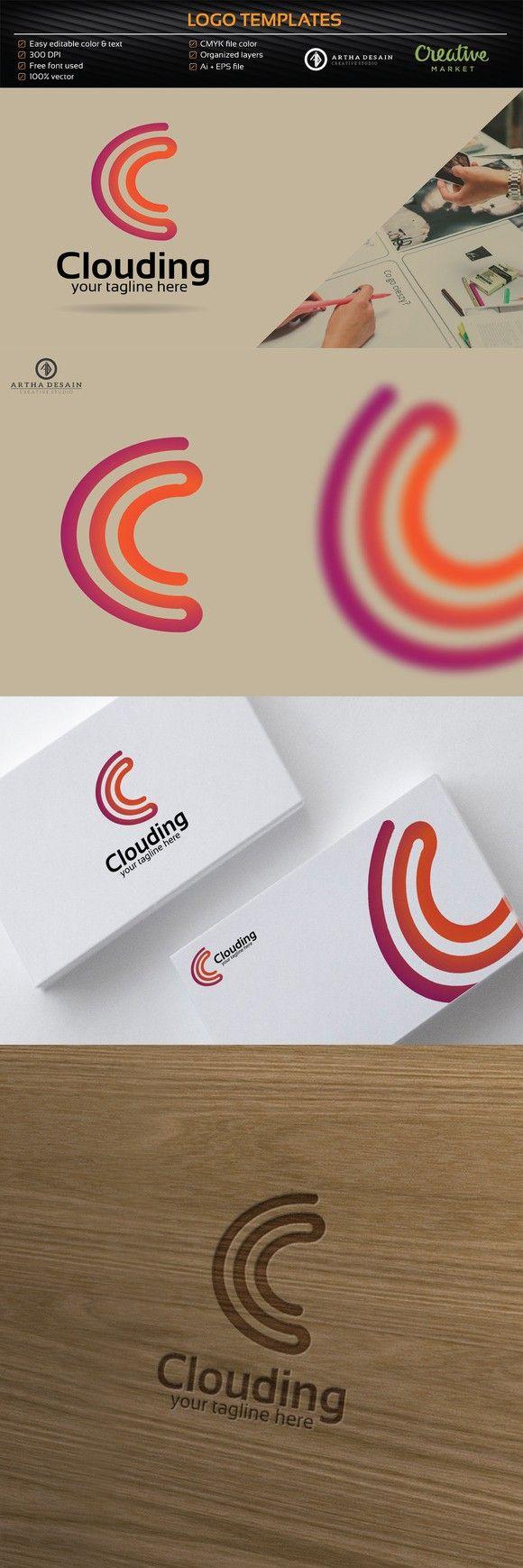Clouding Letter C Logo - Logo Templa