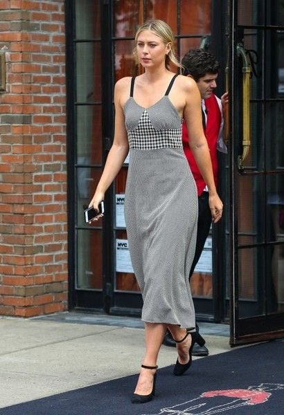 Maria Sharapova Photos Photos - Professional tennis player Maria Sharapova is spotted leaving her hotel in New York City, New York on September 12, 2016. - Maria Sharapova Steps Out in NYC