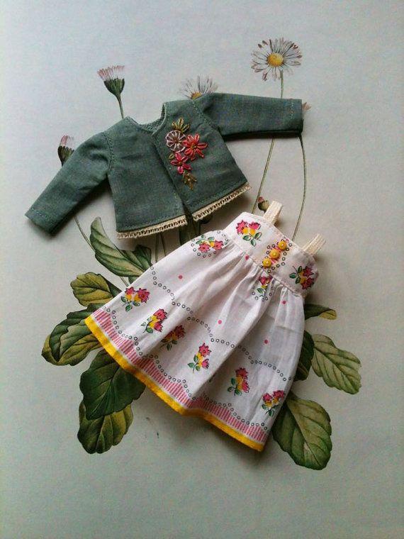Handkerchief Outfit set for Blythe dolls par moshimoshistudio