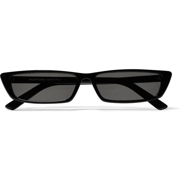 BalenciagaCat-eye Acetate Sunglasses ($370) ❤ liked on Polyvore featuring accessories, eyewear, sunglasses, glasses, black, acetate glasses, balenciaga, balenciaga sunglasses, balenciaga eyewear and acetate sunglasses