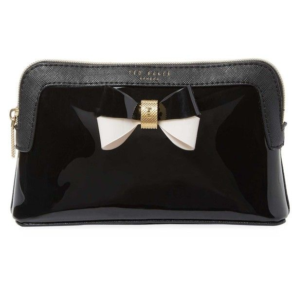 Ted Baker Colorblock Bow Makeup Bag - Black (335.550 IDR) ❤ liked on Polyvore featuring beauty products, beauty accessories, bags & cases, black, travel toiletry case, travel bag, cosmetic purse, makeup purse and cosmetic bag