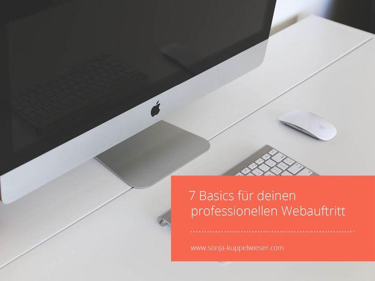 7 Basics für deinen professionellen Webauftritt