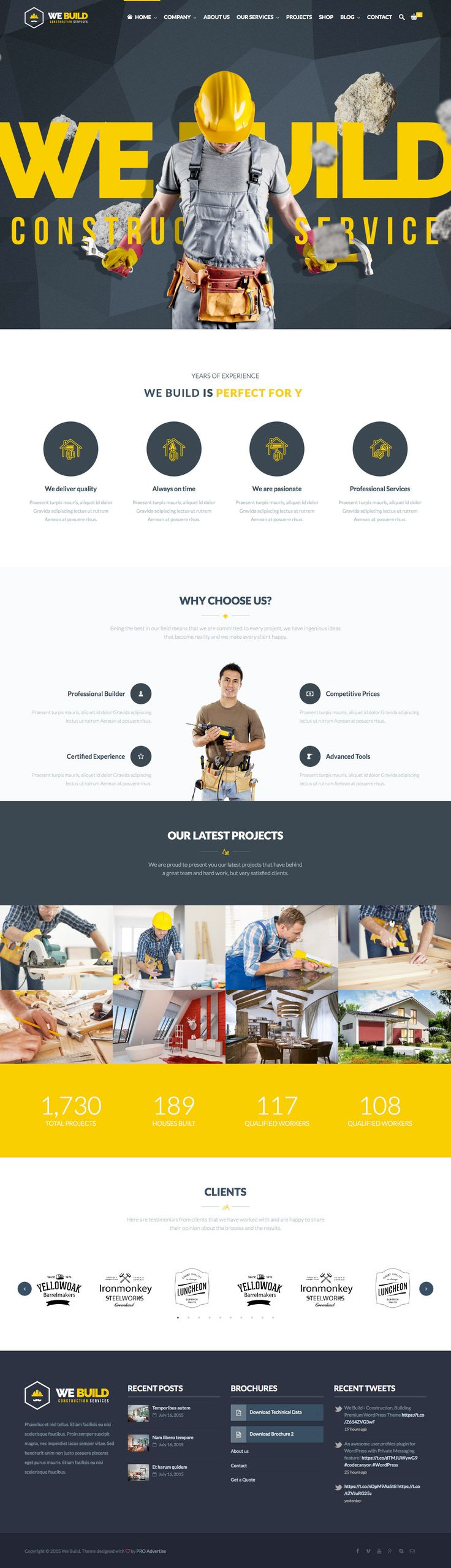 We Build (More web design inspiration at topdesigninspiration.com) #design #web #webdesign #inspiration #sitedesign #responsive