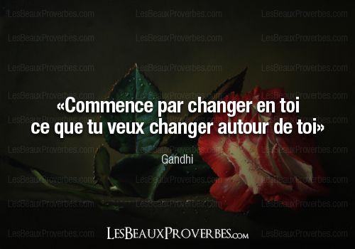 Les Beaux Proverbes – Proverbes, citations et pensées positives » » Gandhi