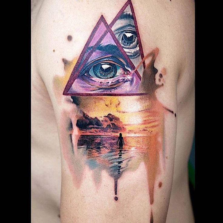 17 best images about tattoo nature scenes on pinterest for Modern art tattoo