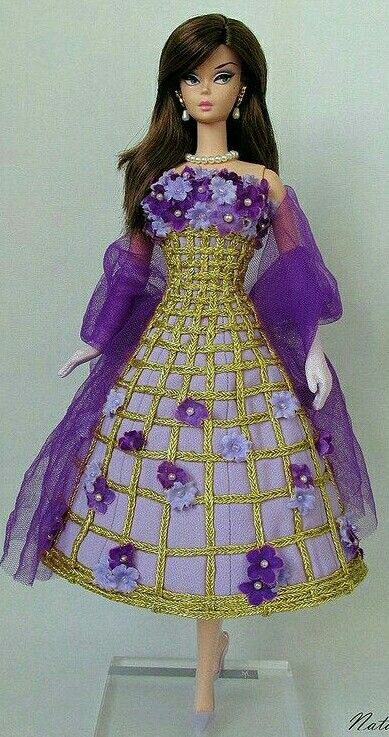 Silkstone BArbie Doll in purple