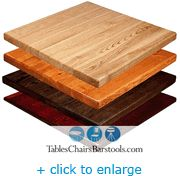 "Solid Wood Table Top, 30"" X 30"" Red Oak Plank Table Top - 4 Stain Options Available $99.99  (Other sizes available, too!)"