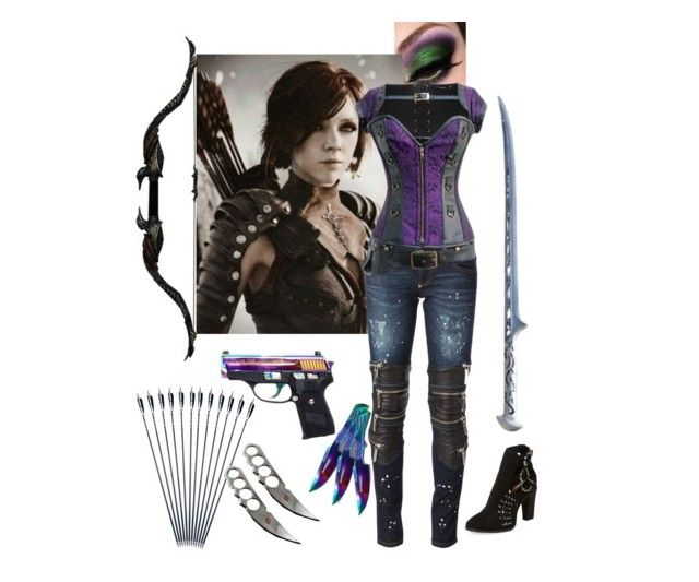 """""""Secret Hunter's Society: Ceola Monroe"""" by supernaturallover4444 ❤ liked on Polyvore featuring Veronica M, Philipp Plein and Joe's Jeans"""