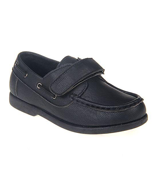 Black Name Boat Shoe