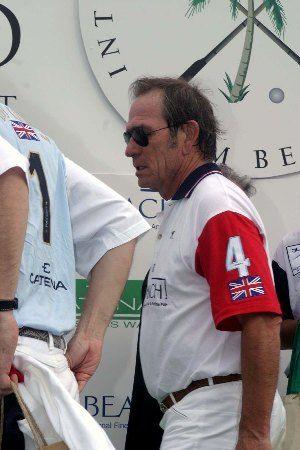 Tommy Lee Jones at International Polo club Laureus Foundation event