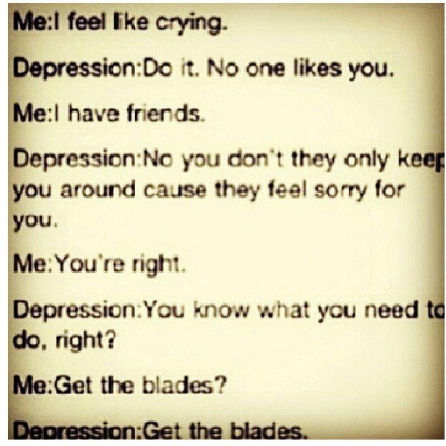 Depression Cutting Quotes: Best 25+ Depression Kills Ideas On Pinterest