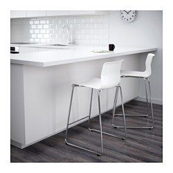"""IKEA - GLENN, Bar stool, 26 """", , The stool can be stacked, so you can keep several on hand and store them in the same space as one."""