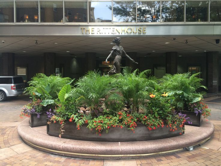 In a city of historical architecture, the contemporary looking Rittenhouse stood out when we first arrived. The hotel has a front drive and I found that to be unique