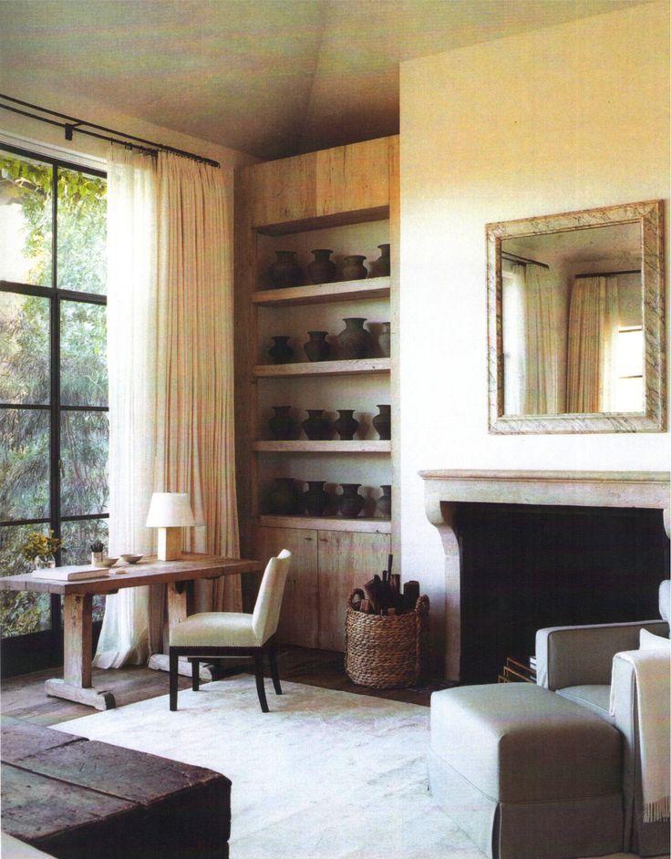 Shelf with TV. No doors.