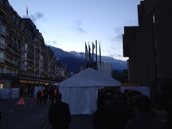 #Suiza. Así están los accesos al Centro de Congresos de #Montreux para Ginebra2 sobre #Siria. (Foto: @HSalasteleSUR)