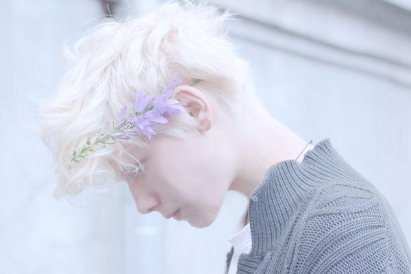 Boy Muse. white hair, white hair boy, platinum, silver, hair, albino, albinism, achromia, pale skin, white, pale, beautiful