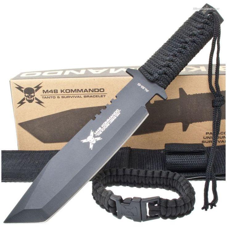 United Cutlery UC2861 M48 Kommando Tanto Knife w/ Paracord Bracelet | MooseCreekGear.com | Outdoor Gear — Worldwide Delivery! | Pocket Knives - Fixed Blade Knives - Folding Knives - Survival Gear - Tactical Gear