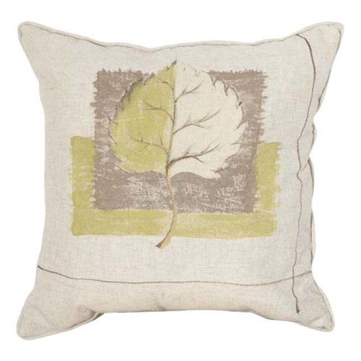 """18"""" Square Country Linen Printed Leafs Decorative Pillow Cover   #cushions #pillows #decor #pattern #country #homedecor #livingroom"""
