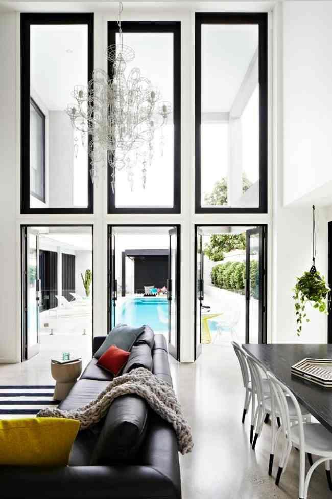 Beautiful windows inside Rebecca Judd's ridiculously beautiful new house.