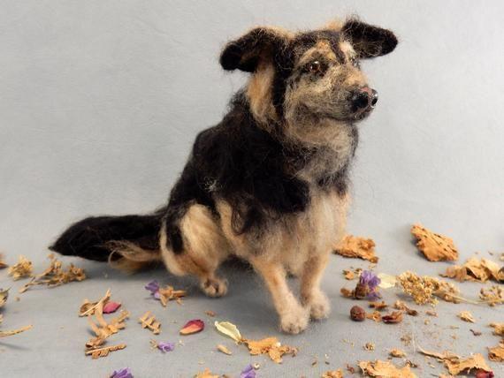 Schaferhund Mix Nadelgefilzter Hundemischling Spezialanfertigung Hundereplika Filzhundeminiatur Trostgeschenkidee Hundeverlust Hundeportrat Animals Dogs