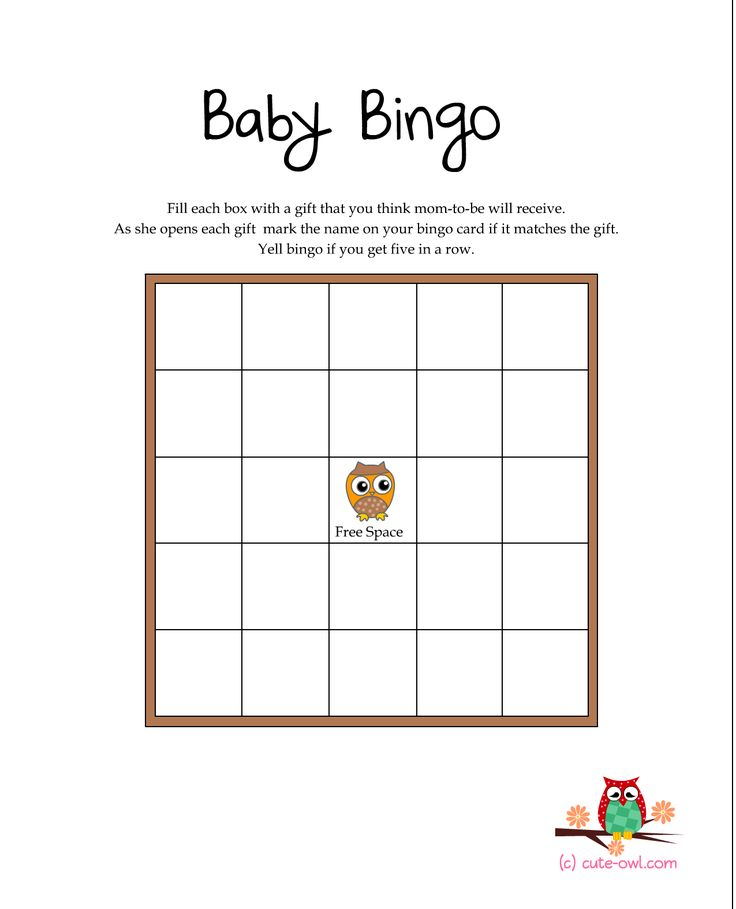 Free Printables Baby Shower Games: Free Printable Owl Themed Baby Shower GAMES