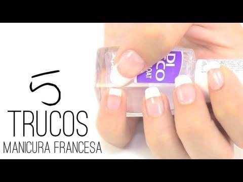 ▶ 5 ideas muy fáciles para realizar una manicura francesa en casa - YouTube